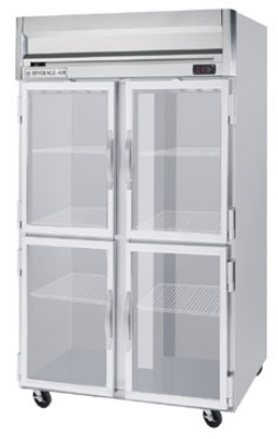 "Beverage Air HRPS2-1HG 52"" Two Section Reach-In Refrigerator, (4) Glass Door, 115v"