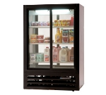 "Beverage Air LV15-1-B-54-LED 36"" Two-Section Glass Door Merchandiser w/ Sliding Doors, 115v"