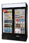 "Beverage Air LV49-1-B-LED 52"" Two-Section Refrigerated Display w/ Swing Doors, Bottom Mount Compressor, 115v"