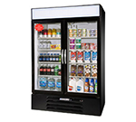 "Beverage Air MMR49-1-B-LED 52"" Two-Section Refrigerated Display w/ Swing Doors, Bottom Mount Compressor, 115v"