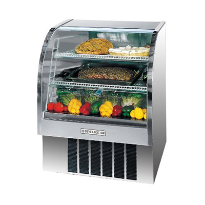 """Beverage Air CDR3/1-S-20 37"""" Full Service Deli Case w/ Curved Glass - (3) Levels, 115v"""