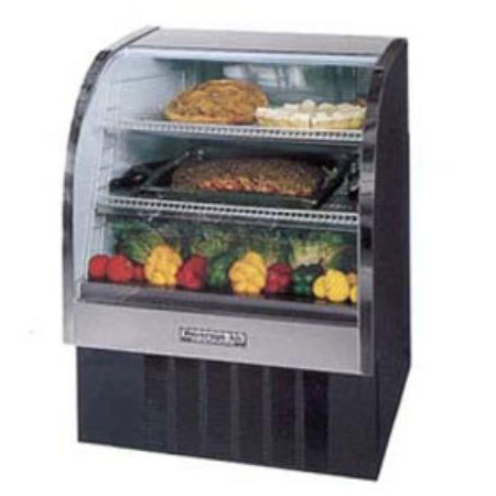 """Beverage Air CDR3/1-W-20 37"""" Full Service Deli Case w/ Curved Glass - (3) Levels, 115v"""