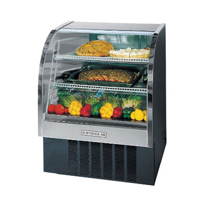 "Beverage Air CDR4/1-B-20 49"" Full Service Deli Case w/ Curved Glass - (3) Levels, 115v"