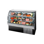 "Beverage Air CDR5/1-B-20 61"" Full Service Deli Case w/ Curved Glass - (3) Levels, 115v"