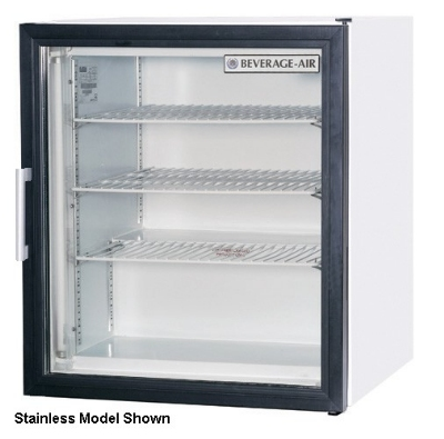 "Beverage Air CF3-1-B 23"" One-Section Display Freezer w/ Swinging Door - Rear Mount Compressor, 115v"