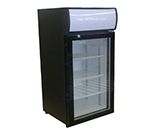 "Beverage Air CTF96-1B-LED 21.44"" One-Section Display Freezer w/ Swinging Door - Rear Mount Compressor, 115v"