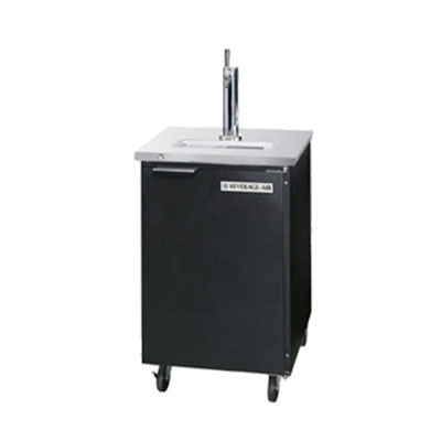 "Beverage Air DD36-1-B 36"" Draft Beer System w/ (1/2) Keg Capacity - (1) Column, Black, 115v"
