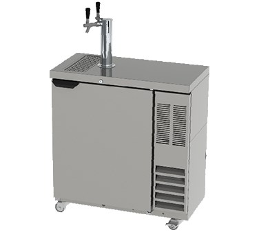 "Beverage Air DD36SLM-1-B 36"" Draft Beer System w/ (1/2) Keg Capacity, (1) Column, Black, 115v"
