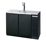 "Beverage Air DD48Y-1-B 48"" Draft Beer System w/ (2) Keg Capacity - (1) Column, Black, 115v"