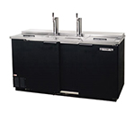 "Beverage Air DD58C-1-B 59"" Draft Beer System w/ (3) Keg Capacity - (2) Columns, Black, 115v"