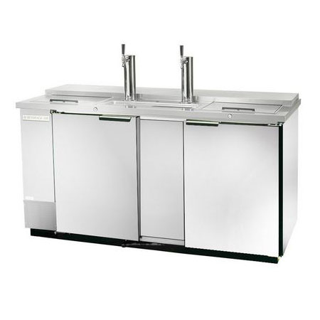 "Beverage Air DD58C-1-S 59"" Draft Beer System w/ (2) Keg Capacity - (2) Columns, Stainless, 115v"