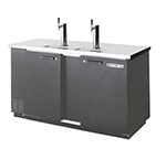 "Beverage Air DD68-1-B 69"" Draft Beer System w/ (3) Keg Capacity - (2) Columns, Black, 115v"