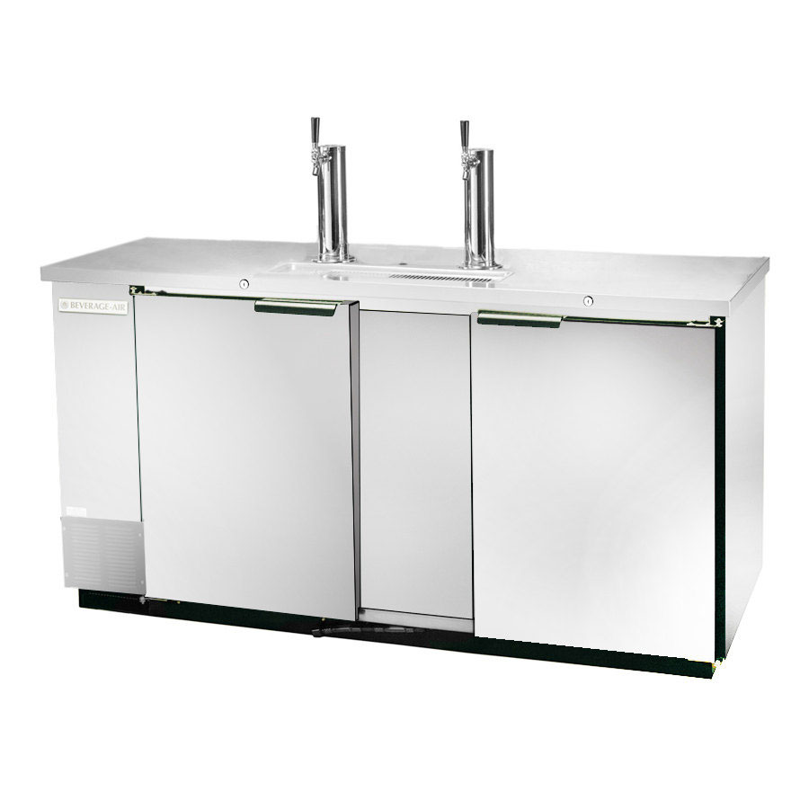 "Beverage Air DD68-1-S 69"" Draft Beer System w/ (2) Keg Capacity - (2) Columns, Stainless, 115v"