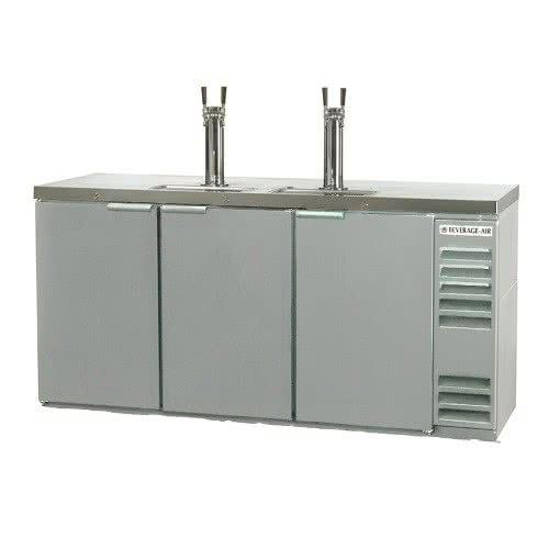 Beverage-Air DD72Y-1-S 72 Draft Beer System w/ (3) Keg Ca...