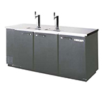 "Beverage Air DD78-1-B 79"" Draft Beer System w/ (4) Keg Capacity - (2) Columns, Black, 115v"