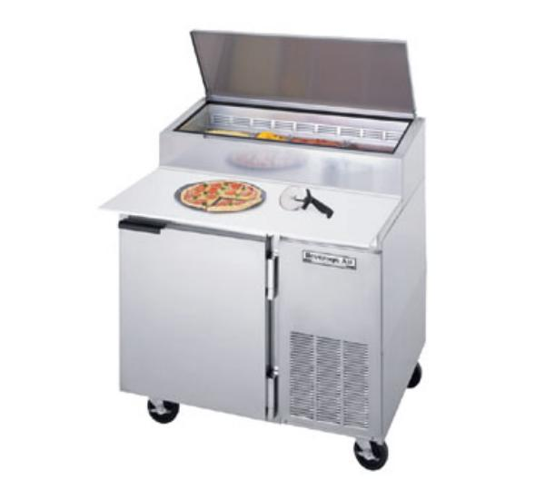 "Beverage Air DP46 46"" Pizza Prep Table w/ Refrigerated Base, 115v"