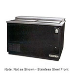 "Beverage Air DW49-S 50"" Forced Air 420-Capacity Bottle Cooler - Lid Locks, 115v"