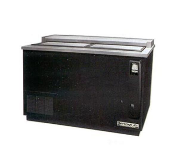 "Beverage Air DW64-S 65"" Forced Air 606-Capacity Bottle Cooler - Lid Locks, 115v"