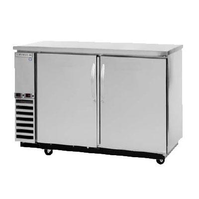 "Beverage Air DZ58-1-B-1 59"" Swinging Solid Door Bar Refrigerator w/ (1) Solid Drawer, Black, 115v"