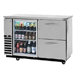 "Beverage Air DZ58G-1-B 59"" (2) Section Bar Refrigerator - Swinging Glass Doors, 115v"