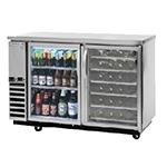 "Beverage Air DZ58G-1-S-PWD-1 59"" Swinging Glass Door Bar Refrigerator w/ Solid Keg Drawer, Wine Drawers, Stainless, 115v"
