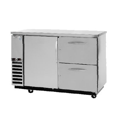 "Beverage Air DZD58-1-B-3 59"" Solid Pull Out Drawer Bar Refrigerator, (1) Keg Drawer, (2) Wine Drawers, Black, 115v"