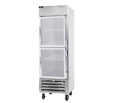 "Beverage Air HBF23-1-HG 27.25"" One Section Reach-In Freezer, (2) Glass Doors, 115v"