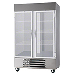 Beverage Air HBRF49-1 49-cu ft Two Section Commercial Refrigerator Freezer - Solid Doors, Bottom Compressor, 115v