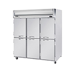 "Beverage Air HBF72-1-HS 75"" Three Section Reach-In Freezer, (6) Solid Doors, 115v"