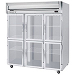 "Beverage Air HBF72-5-HG 75"" Three Section Reach-In Freezer, (6) Glass Doors, 208v/1ph"