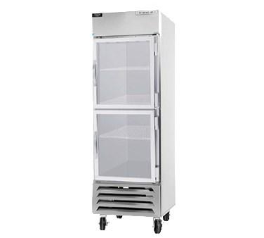 "Beverage Air HBR27-1-HG 30"" Single Section Reach-In Refrigerator, (2) Glass Door, 115v"
