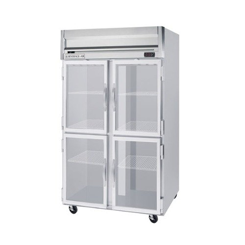 "Beverage Air HBR49-1-HG 52"" Two Section Reach-In Refrigerator, (4) Glass Door, 115v"