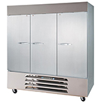 "Beverage Air HBR72-1-S 75"" Three Section Reach-In Refrigerator, (3) Solid Door 115v"