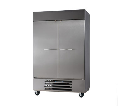 "Beverage Air HBRF49-1 52"" Two Section Commercial Refrigerator Freezer - Solid Doors, Bottom Compressor, 115v"