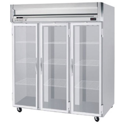 """Beverage Air HF3-5G 78"""" Three Section Reach-In Freezer, (3) Glass Doors, 208v/1ph"""