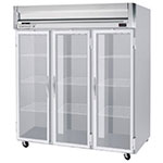 "Beverage Air HFPS3-5G 78"" Three Section Reach-In Freezer, (3) Glass Doors, 208v/1ph"
