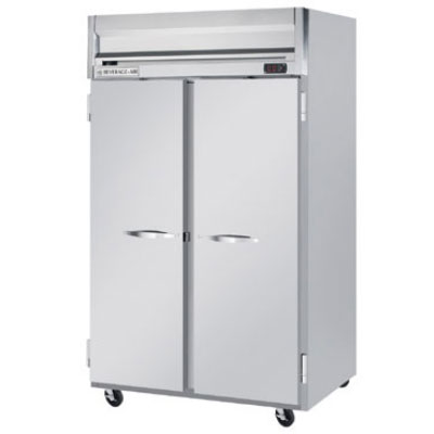 """Beverage Air HFS2-1S 52"""" Two Section Reach-In Freezer, (2) Solid Door, 115v"""