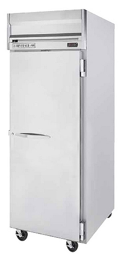 "Beverage Air HRS1W-1S 35"" One Section Reach-In Refrigerator, Solid Door, 115v"