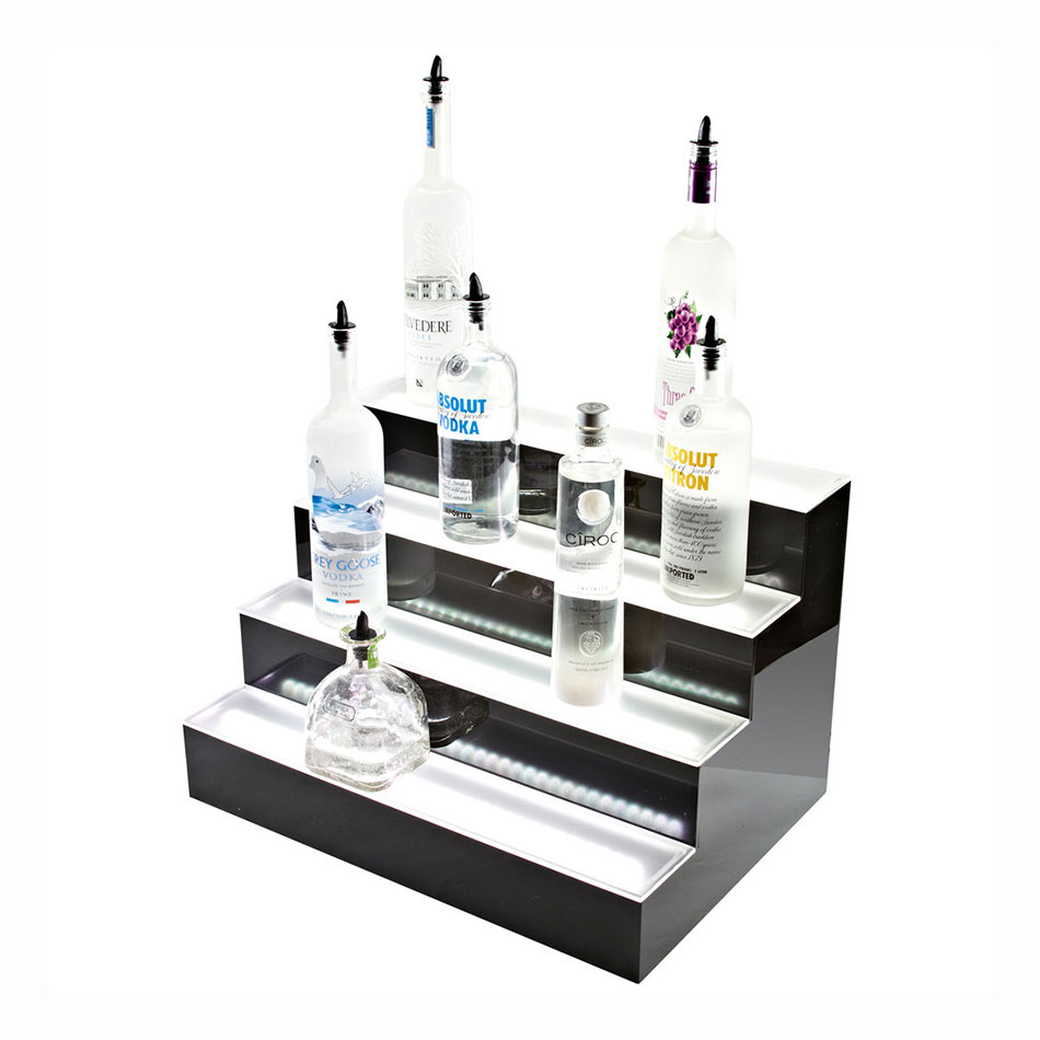Beverage Air LBD4-24L 4-Tier Liquor Display w/ LED Lighting - (24) Bottle Capacity, Acrylic
