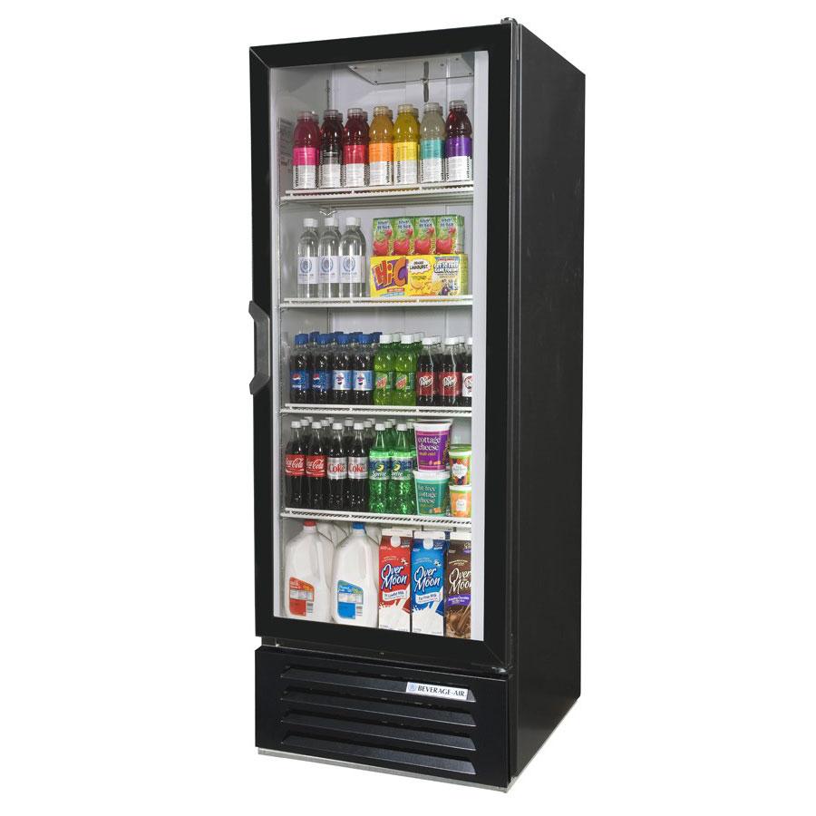 """Beverage Air LV12HC-1-B 24"""" One-Section Glass Door Merchandiser w/ Swing Door, 115v"""