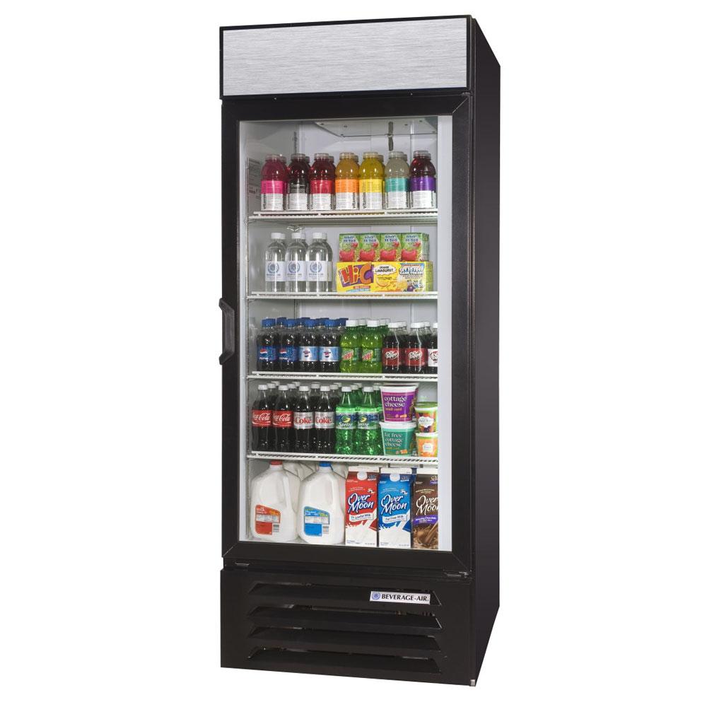 """Beverage Air LV23HC-1-B 27"""" One-Section Glass Door Merchandiser w/ Swing Door, 115v"""