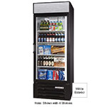 "Beverage Air LV27-1-W-LED 30"" One-Section Glass Door Merchandiser w/ Swing Door, 115v"