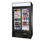 "Beverage Air LV38-1-B-LED 44"" Two-Section Refrigerated Display w/ Sliding Doors, Bottom Mount Compressor, 115v"