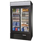 """Beverage Air LV38HC-1-B 43.5"""" Two-Section Glass Door Merchandiser w/ Sliding Doors, 115v"""