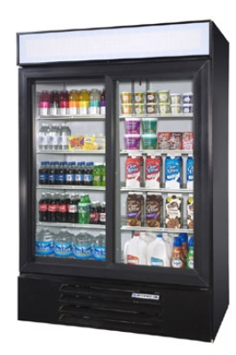 "Beverage Air LV49-1-W-LED 52"" Two-Section Refrigerated Display w/ Swing Doors, Bottom Mount Compressor, 115v"