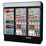 "Beverage Air LV72Y-1-B-LED 75"" Three-Section Glass Door Merchandiser w/ Swing Doors, 115v"