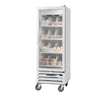 Beverage Air MMF12-1-W-LED 1-Section Reach-In Freezer Merchandiser - 12-cu ft, White