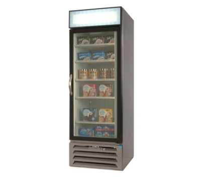 "Beverage Air MMF23-1-W-LED 27.25"" One-Section Display Freezer w/ Swinging Door - Bottom Mount Compressor, 115v"
