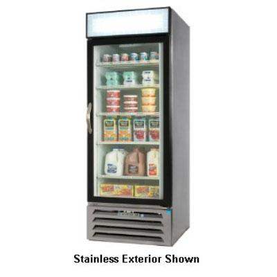 """Beverage Air MMF27-1-B-LED 30"""" One-Section Display Freezer w/ Swinging Door - Bottom Mount Compressor, 115v"""