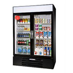 "Beverage Air MMF44-1-B-LED 47"" Two-Section Glass Door Merchandiser w/ Swing Doors, 115v"